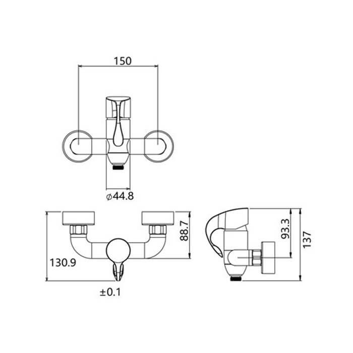 شیر توالت شودر مشخصات مدل دانته