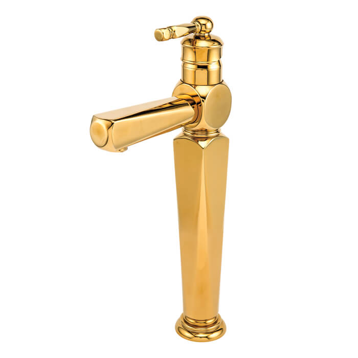 شیر روشویی قهرمان ارس طلایی پایه بلند