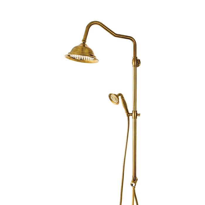 علم دوش قهرمان آنتیک طلایی مات